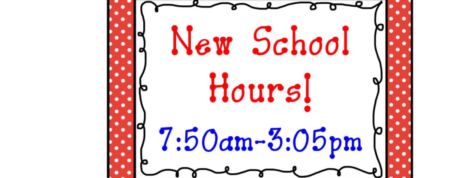 The school day begins at 7:50 am and release time is at 3:05 pm.